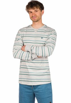 Kazane - Langarmshirt - light heather grey/stripe