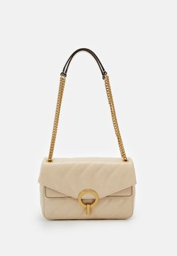 sandro - QUILTED CHAIN SHOULDER BAG - Torebka - beige