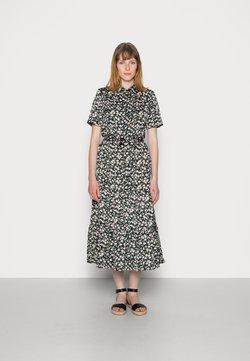 Anna Field - WOVEN BLOUSE DRESS - Blusenkleid - black/white