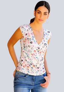 Alba Moda - T-Shirt print - stein,rosé,gelb