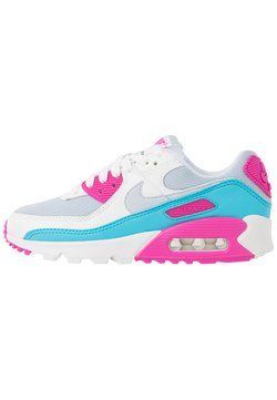 Nike Sportswear - AIR MAX 90 - Sneakers laag - football grey/summit white/fire pink/blue fury