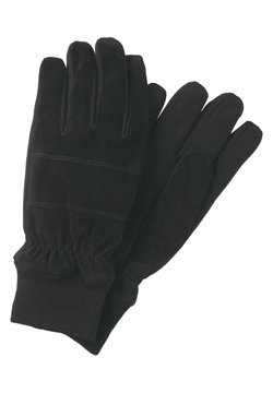TOM TAILOR - MIT RIPPBLENDEN - Fingerhandschuh - black
