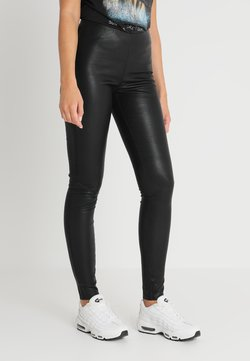 YAS - YASZEBA STRETCH - Pantalon en cuir - black