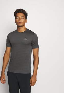 Salomon - TEE - T-shirt basic - black/heather