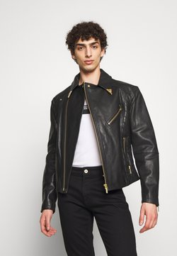Versace Jeans Couture - JACKET - Kurtka skórzana - black