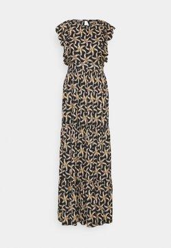Scotch & Soda - DRAPEY DRESS WITH SCALLOPED EDGE DETAILS - Maxikleid - black
