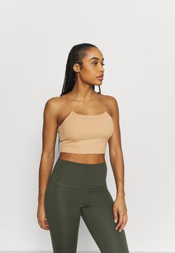Nike Performance - LUXE STRAPPY CAMI - Funktionsshirt - praline
