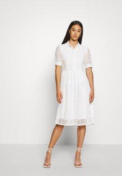 NA-KD - SHORT SLEEVE DRESS - Skjortklänning - white