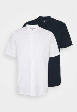 Burton Menswear London - SHORT SLEEVE OXFORD GRANDAD 2 PACK - Koszula - navy