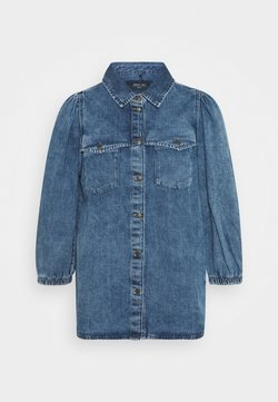 Noisy May - NMRILEY PUFF WESTERN - Koszula - medium blue denim