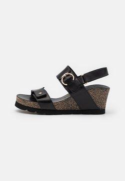 Panama Jack - PULL-UP - Platform sandals - black