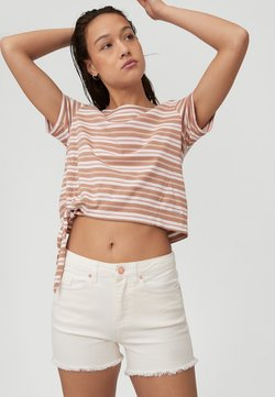 O'Neill - KNOTTED  - T-Shirt print - brown or beige with pink