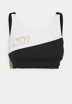 Nike Performance - LOGO BRA PAD - Sport BH - white/black/metallic gold
