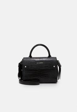 KARL LAGERFELD - IKON MINI TOP HANDLE - Torebka - black