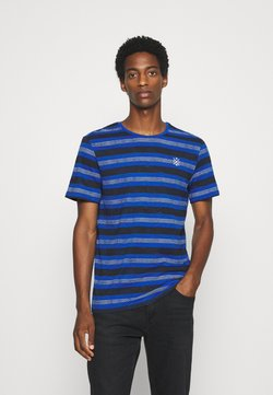 TOM TAILOR - T-shirt con stampa - violet-blue-watery