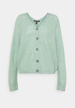 Esprit Collection - V NECK CARDIGAN - Chaqueta de punto - pastel green