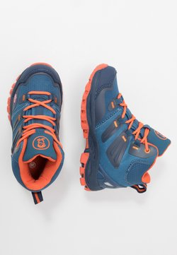 TrollKids - KIDS RONDANE HIKER MID - Hikingschuh - mystic blue/orange