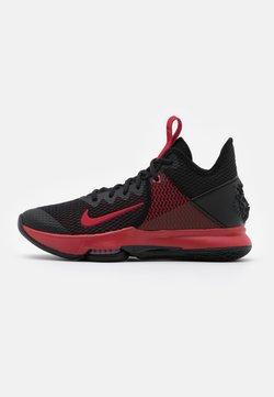 Nike Performance - LEBRON WITNESS IV - Basketballschuh - black/gym red/university red