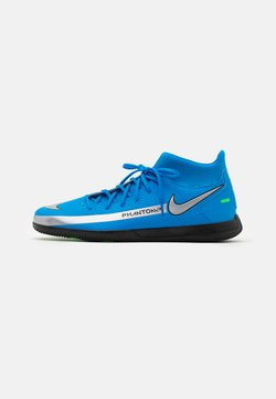 Nike Performance - PHANTOM GT CLUB DF IC - Indoor football boots - photo blue/metallic silver/rage green