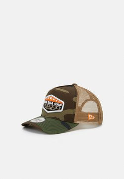 New Era - MXMXX PATCH TRUCKER - Lippalakki - mottled olive