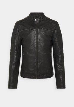 Goosecraft - JACKET - Leren jas - black