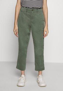 GAP Petite - HIGH RISE STRAIGHT - Pantalones - olive