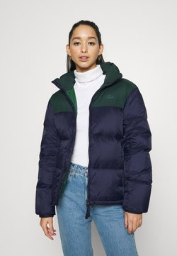 Lacoste - COLOR BLOCK PUFFER - Daunenjacke - navy blue/sinople