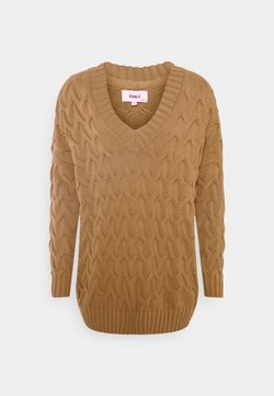 ONLY - ONLBINA LIFE LONG  - Strickpullover - toasted coconut