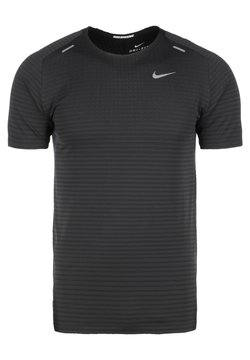 Nike Performance - TECH ULTRA LAUFSHIRT HERREN - Camiseta estampada - black/dark smoke grey