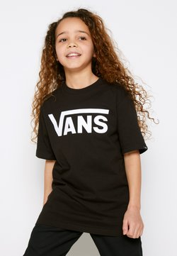 Vans - BY VANS CLASSIC BOYS - T-shirt z nadrukiem - black/white