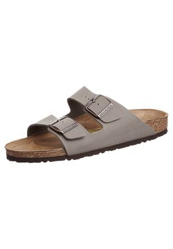 Birkenstock - ARIZONA NARROW FIT - Pantolette flach - stone