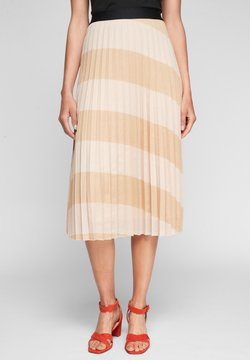 comma - Faltenrock - beige stripes
