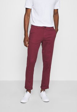 Selected Homme - SLHSTRAIGHT NEWPARIS FLEX PANTS  - Chinot - tawny port