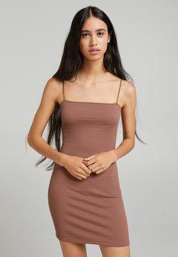 Bershka - Fodralklänning - brown