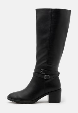 Evans - WIDE FIT HEELED LONG BOOT - Stiefel - black