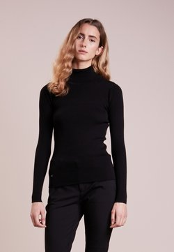 Lauren Ralph Lauren - TURTLE NECK - Strickpullover - polo black