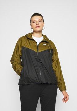Nike Sportswear - PLUS - Leichte Jacke - olive flak/black/white