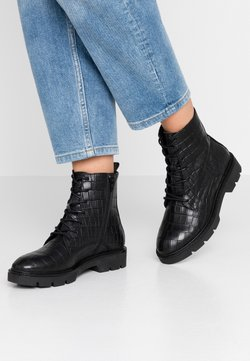 Bianco - BIACALDER CHUNKY LACED UP BOOT - Plateaustiefelette - black