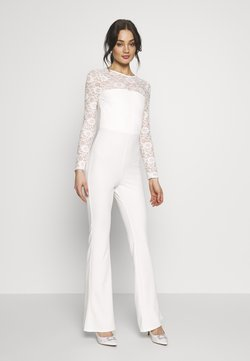 Missguided - BRIDAL AND BRIDESMAID LACE OPENBACK JUMPSUIT - Jumpsuit - ivory