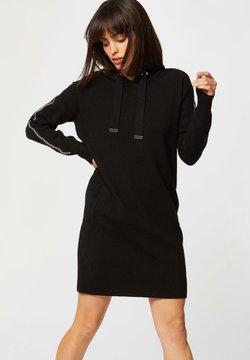 Morgan - STRAIGHT HOODED  - Vestido de punto - black