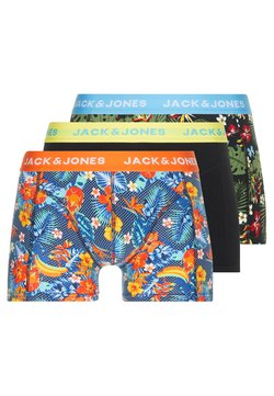Jack & Jones - JACCRAZY FLOWER TRUNKS 3 PACK - Panties - fiery red/black/riffle green