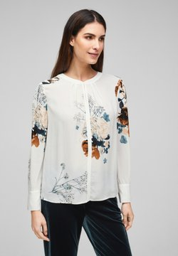 s.Oliver BLACK LABEL - Bluse - cream flowers print