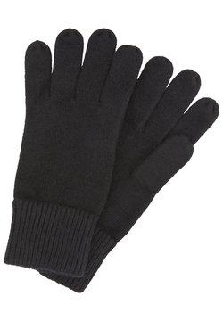 TOM TAILOR - MIT LOGO-BADGE - Fingerhandschuh - black