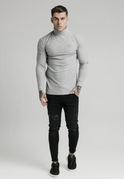 SIKSILK - LONG SLEEVE BRUSHED TURTLE NECK - Stickad tröja - light grey