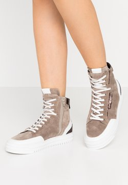 Kennel + Schmenger - ZOOM - Sneaker high - taupe/bia/bronze