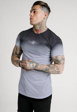 SIKSILK - HIGHFADE BOX TEE - Print T-shirt - black/white