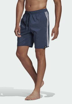 adidas Performance - CLASSIC-LENGTH 3-STRIPES SWIM SHORTS - Urheilushortsit - blue