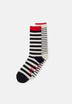 Levi's® - BRETON STRIPE REGULAR CUT 2 PACK UNISEX - Socken - black/white