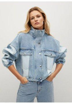 Mango - CINDY - Veste en jean - mellemblå