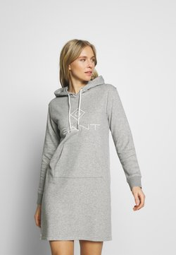 GANT - LOCK UP HOODIE DRESS - Robe d'été - grey melange